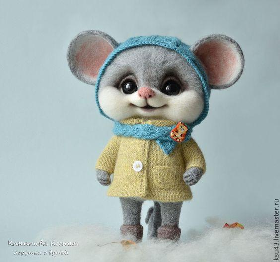 Мышка Кэтти - серый,мышка,мышь,мышонок,мышки,мышь игрушка,мышка игрушка