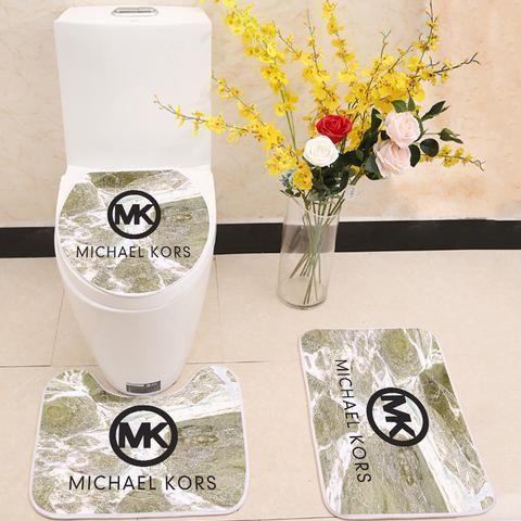 Michael Kors Mk Logo Toilet Rug Lid