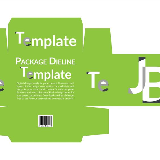 Download Package 10in Dieline - Photoshop Dieline Template Download