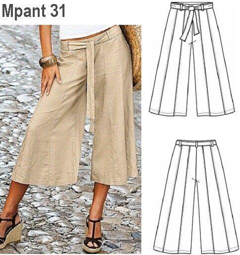 Molde Falda Pantalon Mujer 0931 Pantalones Mujer Faldas Pantalon Patron De Pantalones
