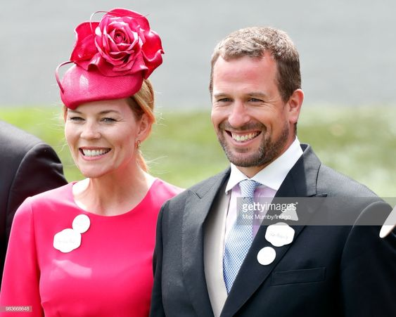 (EMBARGOED FOR PUBLICATION IN UK NEWSPAPERS UNTIL 24 HOURS AFTER CREATE DATE AND TIME) Autumn Phillips and Peter Phillips attend day 5 of Royal Ascot at Ascot Racecourse on June 23, 2018 in Ascot, England. (Photo by Max Mumby/Indigo/Getty Images)