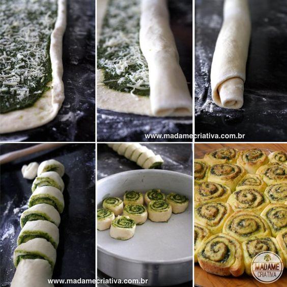 Receita pão de pesto -  Dicas de como fazer - Passo a passo com fotos - Tutorial with pictures - how to make pesto bread  - DIY  - Madame Criativa - www.madamecriativa.com.br