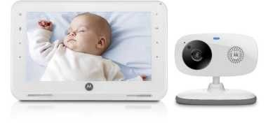 "Motorola Baby Digital Baby 7"" Monitor w 1 Camera - White MBP867"