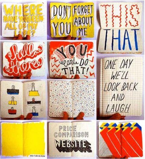 jenni spark's sketchbook Sketchbook ideas and inspiration for students: