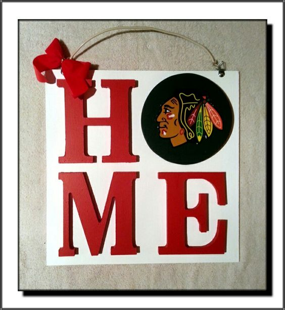 Chicago Blackhawks: Homemade Craft Sign