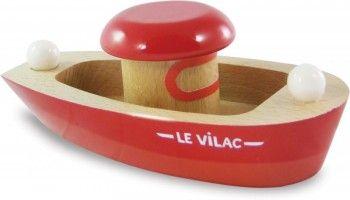 Spielzeug für draussen | Spielzeug Boot aus Holz, made in France von vilac