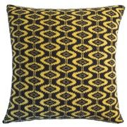 Seven Gauge Studios - Ellipse Knitted Cushion -  Brown & Yellow - 40x40cm