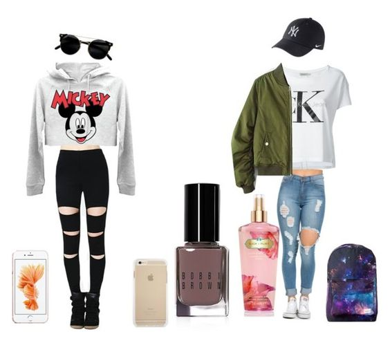 """""""Untitled #1"""" by cheerkaja ❤ liked on Polyvore featuring Calvin Klein Jeans, Bobbi Brown Cosmetics, Victoria's Secret and NIKE"""