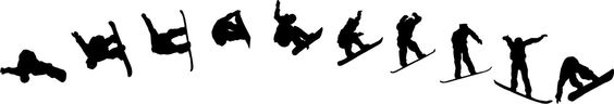 Snowboarding Set - Vinyl Decal