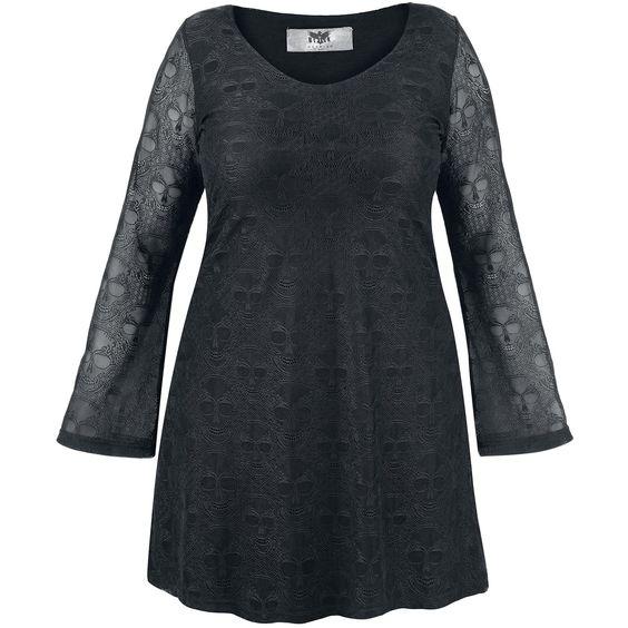 Lace Sleeve Dress von Black Premium by EMP