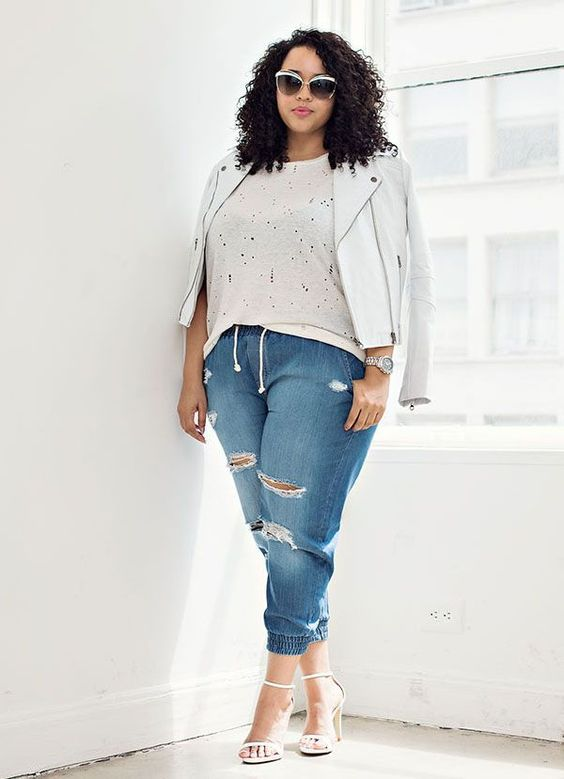 plus-size-street-style-destroyed-denim-shirt
