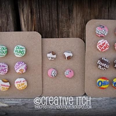 DIY Candy Wrapper Earrings (Mod Podge)  (for granddaughter)