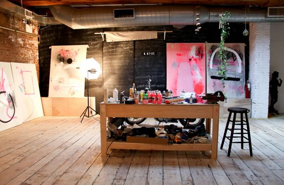 artist's studio- this could work well!~