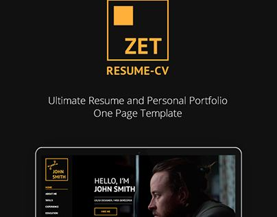 Check out new work on my @Behance portfolio  - one page resume