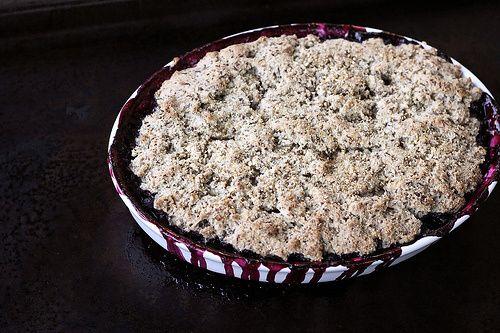Grain-free Blueberry Cobbler - Gluten-free, Vegan Refined Sugar-free