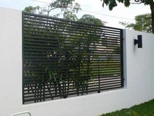 Mild steel metal fence modern design garden ideas for Modern gate designs wood and steel