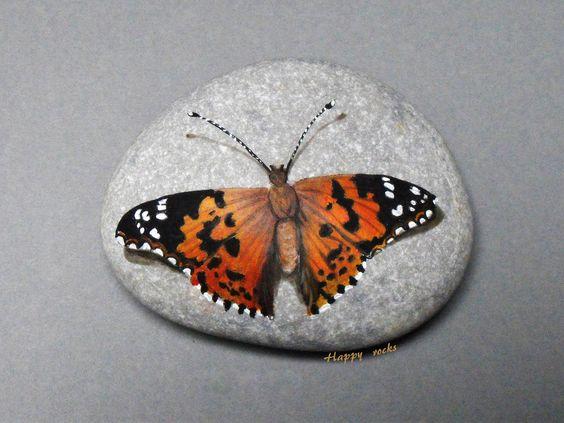 VANESSE du CHARDON   Happy rocks - peinture sur galet , 8 cm…   rockpainting ☼ yvette   Flickr