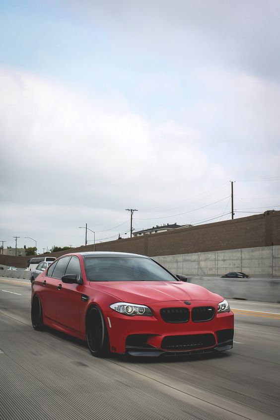 BMW F10   M5   BMW   M series   red cars   BMW photos