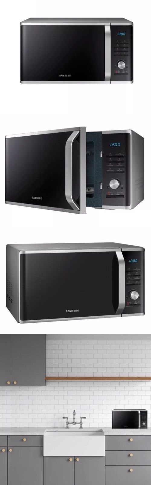 stainless steel oven microwave oven
