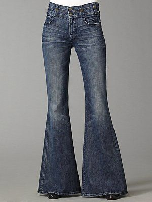 Bell Bottoms - the bigger the bell the better. We could hide our feet under them and go barefooted at school.