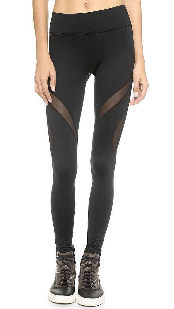 Cut Out Leggings Mesh