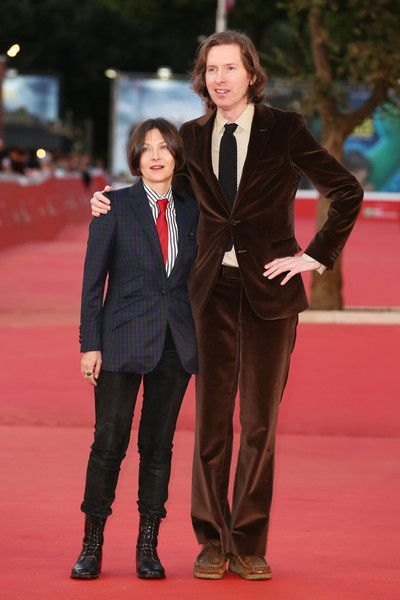 Wes Anderson and Donna Tartt walk the red carpet during the 10th Rome Film Fest at Auditorium Parco Della Musica on October 19, 2015 in Rome, Italy.