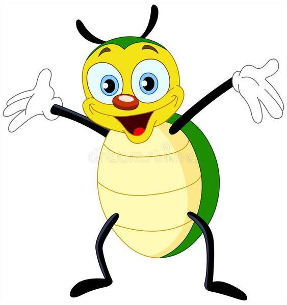 Beetle. Cartoon illustration of a happy beetle , #Affiliate, #Cartoon, #Beetle, #illustration, #beetle, #happy #ad