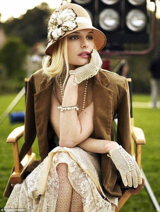 pretty: 1920 S, Kate Bosworth, Gatsby Style, Lace Gloves, 1920S, Kentucky Derby, Vintage Style