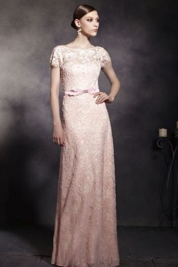 Elegantes A-Linie Bodenlanges Rückenfreies Abendkleid mit Ärmeln