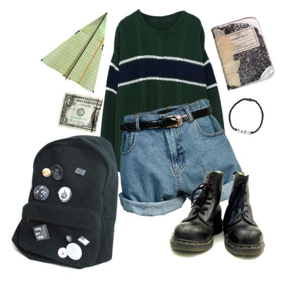 """90s grunge @ school"" by sspaceprincess ❤ liked on Polyvore featuring Retrò, CO and Venessa Arizaga"