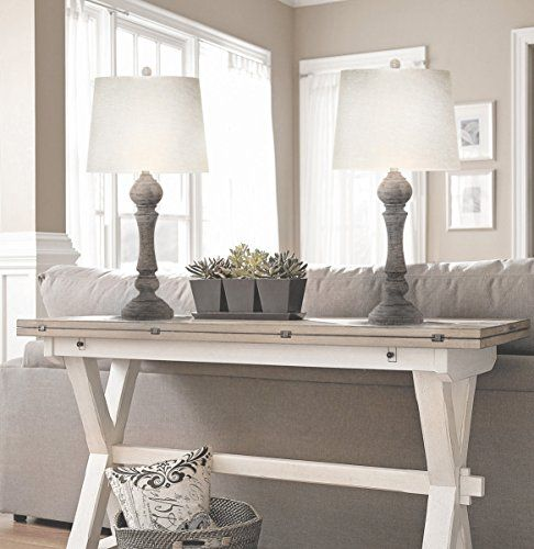 Grandview Gallery 32 Reclaimed Grey Table Lamps W Linen Lamp Shades Set Of Two Farmhouse And Country Style Farmhouse Goals In 2020 Table Lamps Living Room Farmhouse Lamps Lamps Living Room