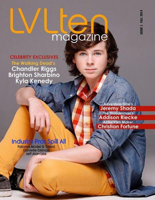 the walking dead magazine photoshoot   Photoshoot e scans da LVLten Magazine com Chandler Riggs - The Walking ...