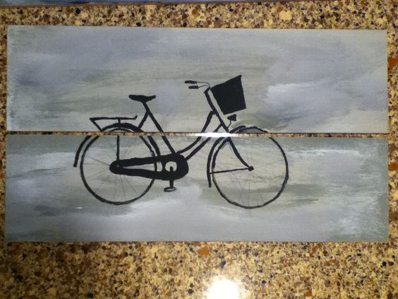 another one of my paintings, Bike!
