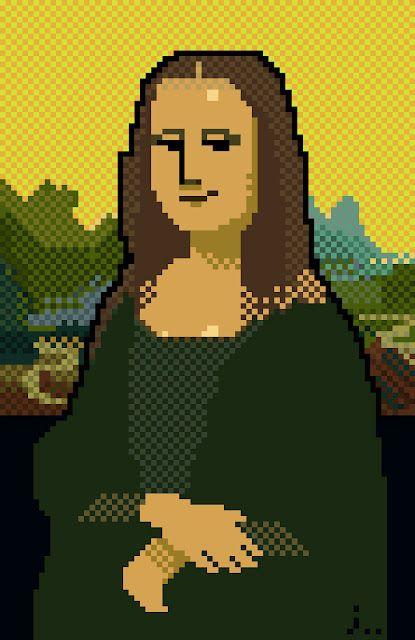 em pixel art