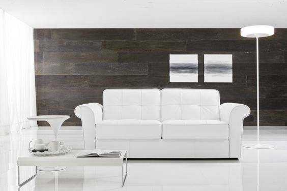 Il divano Night & Day by Samoa.  #white #bianco #divani #furniture #pelle #leather #arredamento #design #love #home