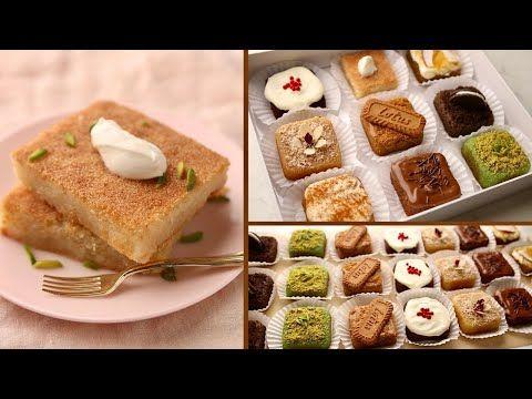 البسبوسة كما لم تروها من قبل هتعملوها أحسن من أشهر محلات الحلويات بعد الڤيديو ده Youtube Desserts Food Party Desserts