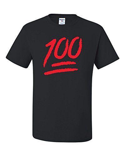 $7.99 (50% Off) on LootHoot.com - Keep It 100 Red IOS Emoji Fashion Tee Graphic…