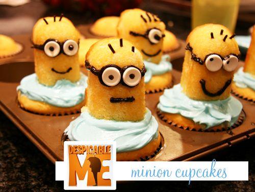 Minion cupcakes with twinkies