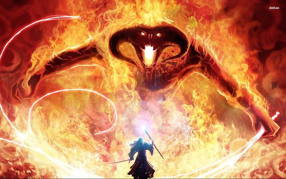 Gandalf and Balrog - Lord Of The Rings