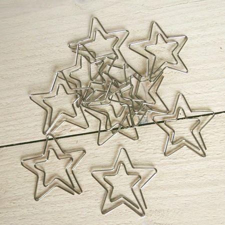 Büroklammern Stern