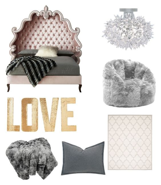 """For the queen"" by emmaraej on Polyvore featuring interior, interiors, interior design, home, home decor, interior decorating, Haute House, Kartell, Comfort Research and Safavieh"