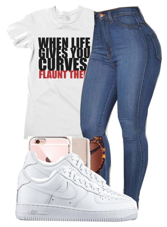 """""""When life gives you curves, FLAUNT THEM!!!"""" by marvelfaith ❤ liked on Polyvore featuring Forever 21 and NIKE"""