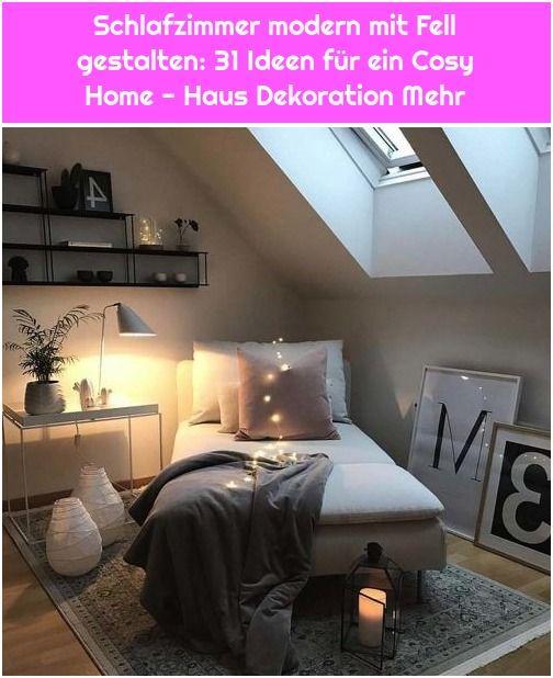 Schlafzimmer Modern Mit Fell Gestalten 31 Ideen Fur Ein Cosy Home Haus Dekoration Mehr Gemutliches Haus Zimmer Haus Deko