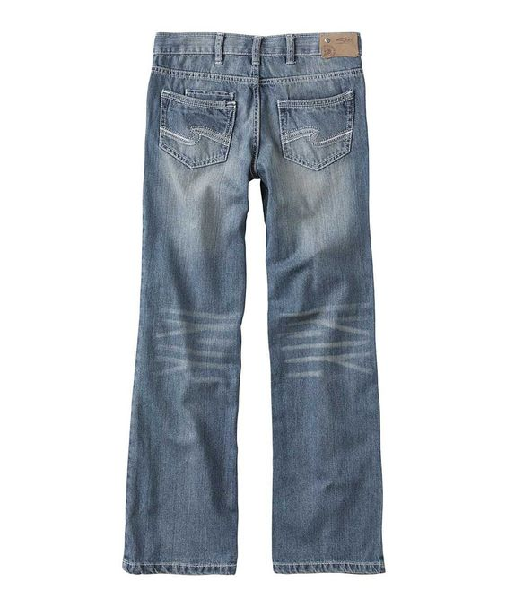 Silver Jeans Co. Light Wash Zane Bootcut Jeans - Boys | Jeans