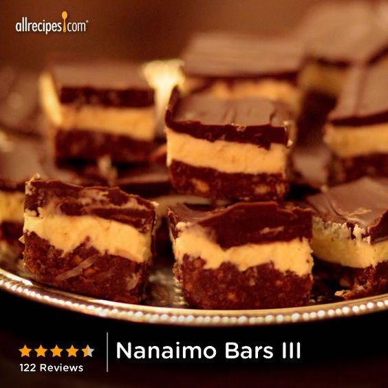 Nanaimo bars, Bar and Some times on Pinterest