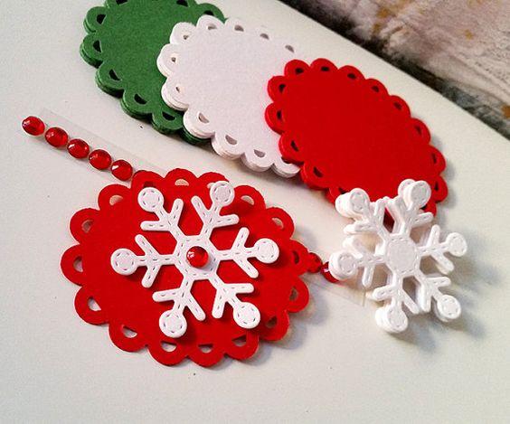 Christmas Tags Kit, DIY Christmas Tags, Gift Wrapping Kit, DIY Gift Wrapping 90 pcs