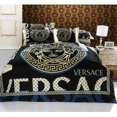 Copripiumino Versace.Image Of 4 Piece Cotton Medusa Versace Print Bedding Set On Sale