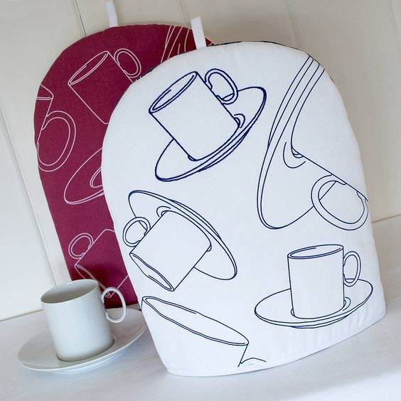 Embroidered Coffee Cup Cafetiere Cosy from notonthehighstreet.com