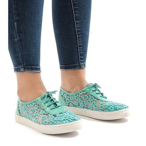 Trainers Women S Butymodne Green Sneakers With Lace Hc235 Sneakers Green Sneakers Trainers Women