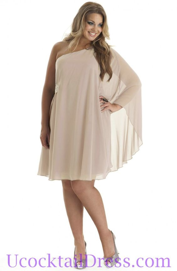Plus Size Cocktail Dresses - ... Ruched Elegant Short Formal ...